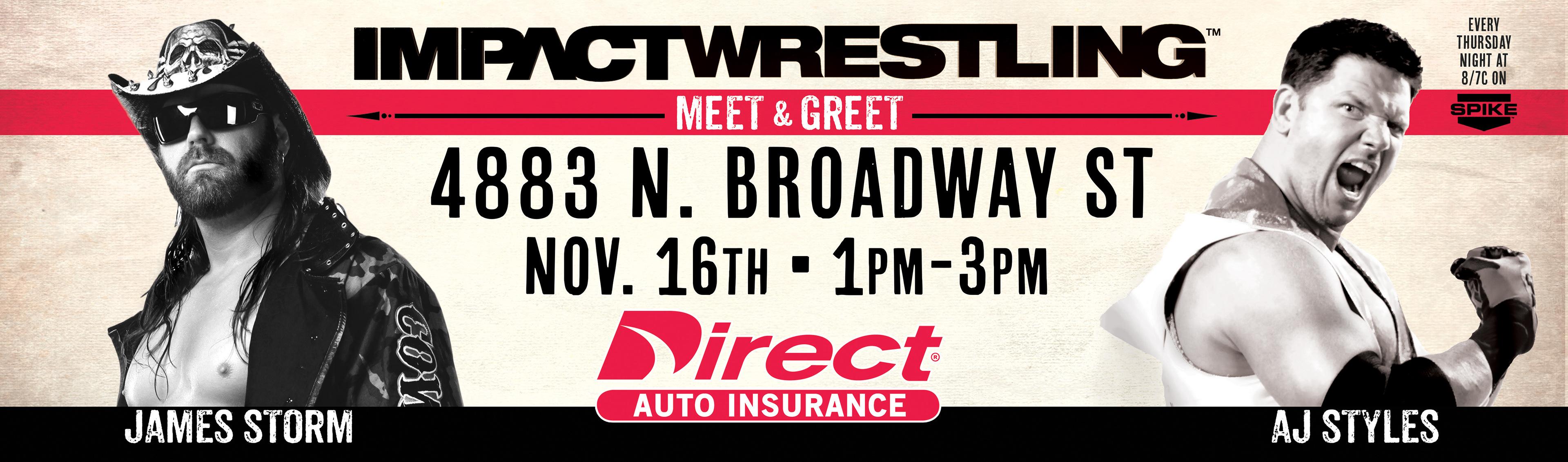 Erik Edmondson Impact Wresting Billboard Ads For Direct Auto