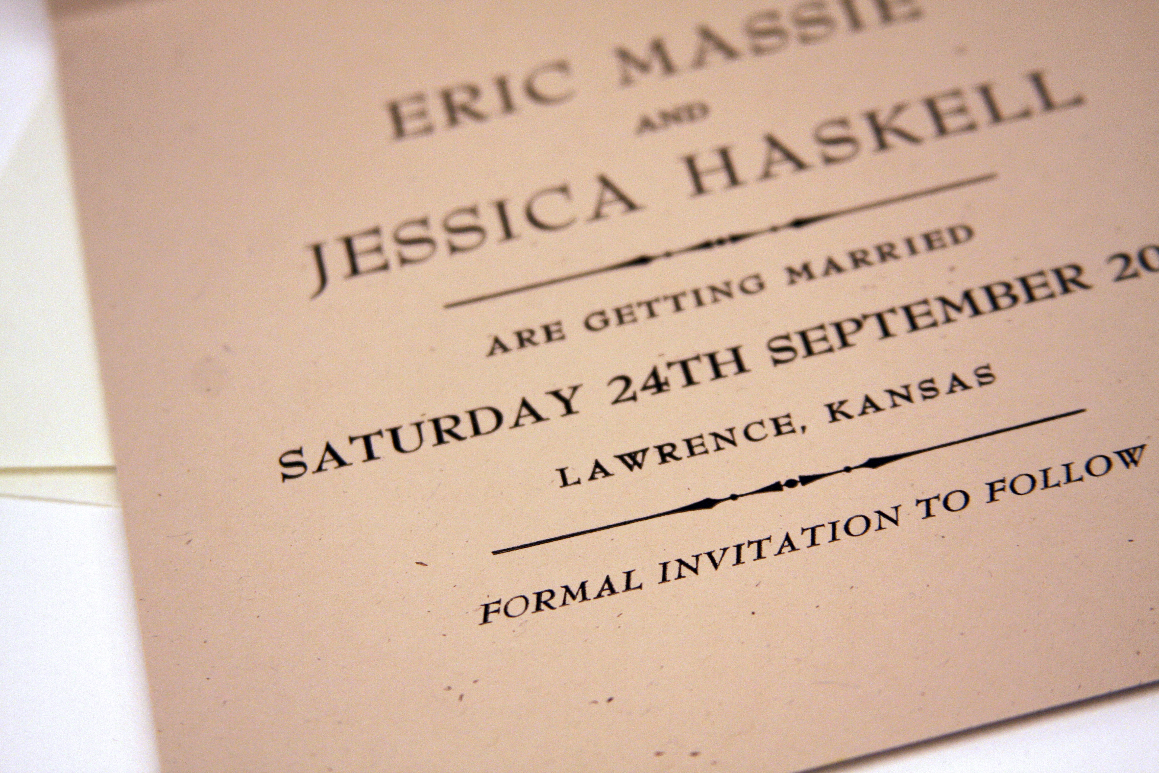 nicollette haskell save the date
