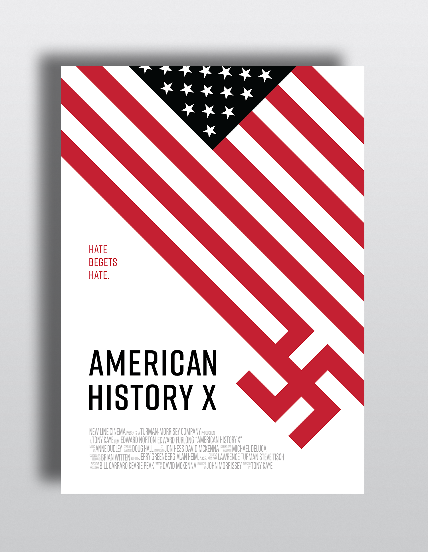 Poster design history - American History X Poster Design