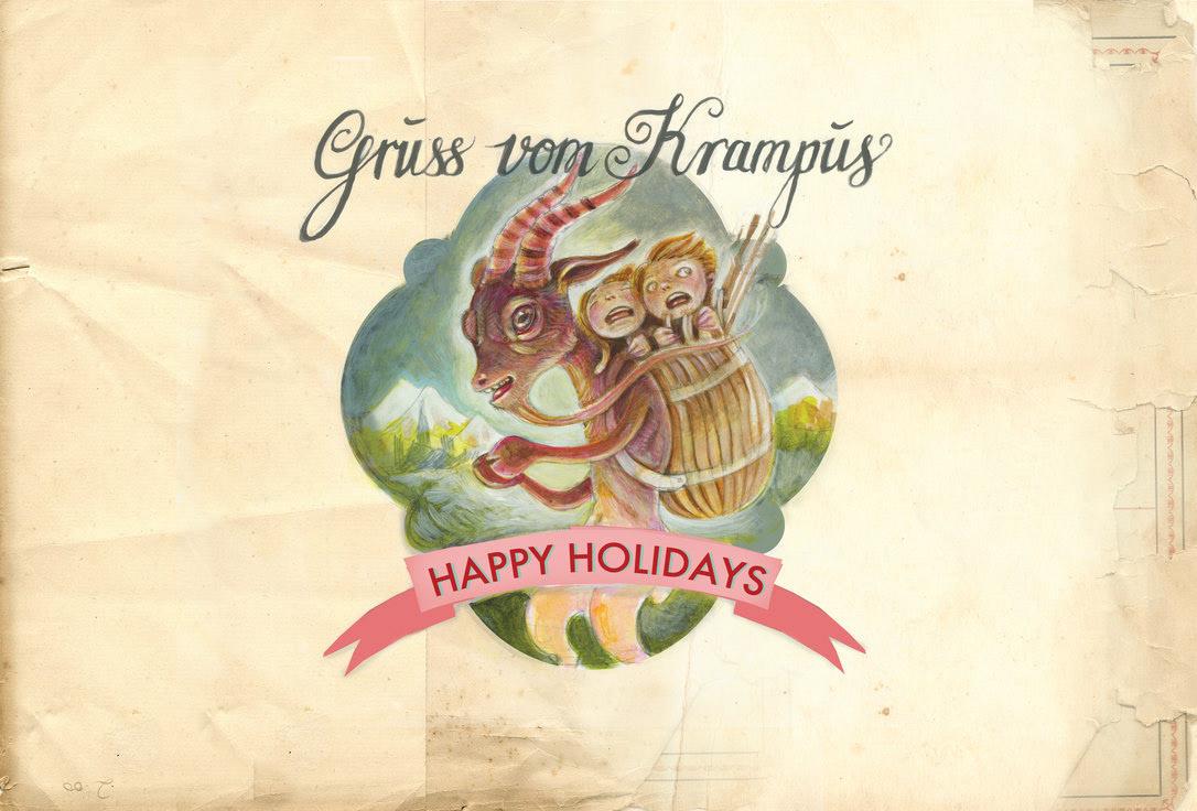 Jennifer Lewis - Krampus Christmas Card