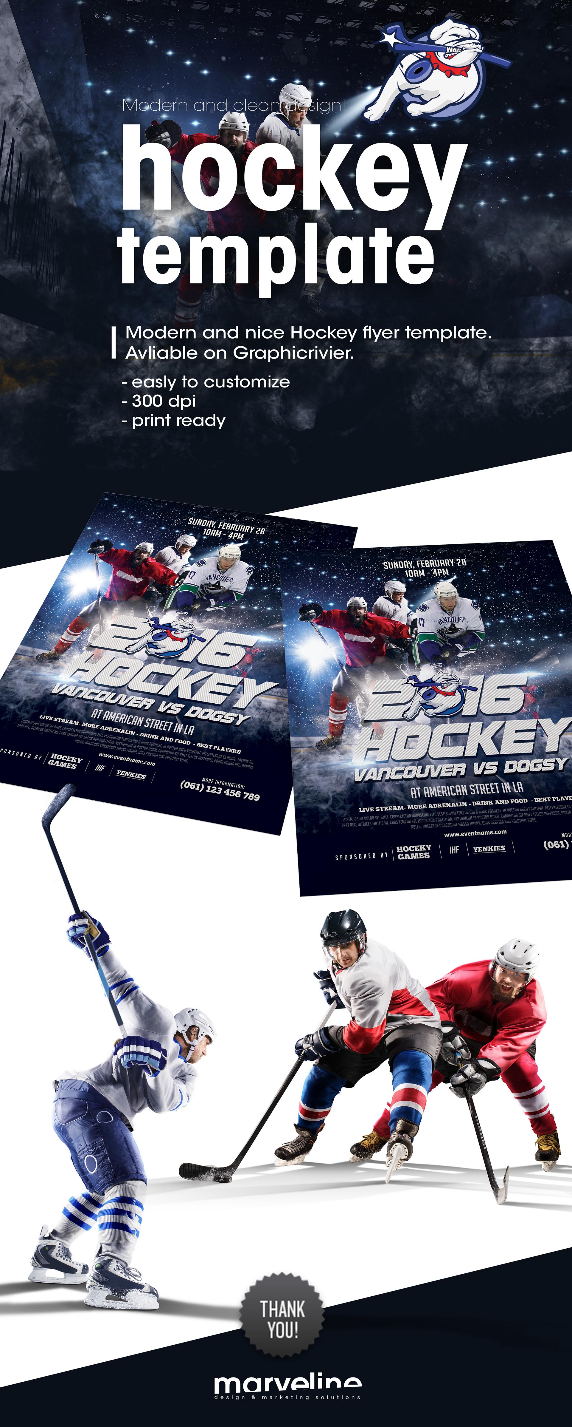 Muamer Prosic Hockey Flyer Template Avliable On Envato