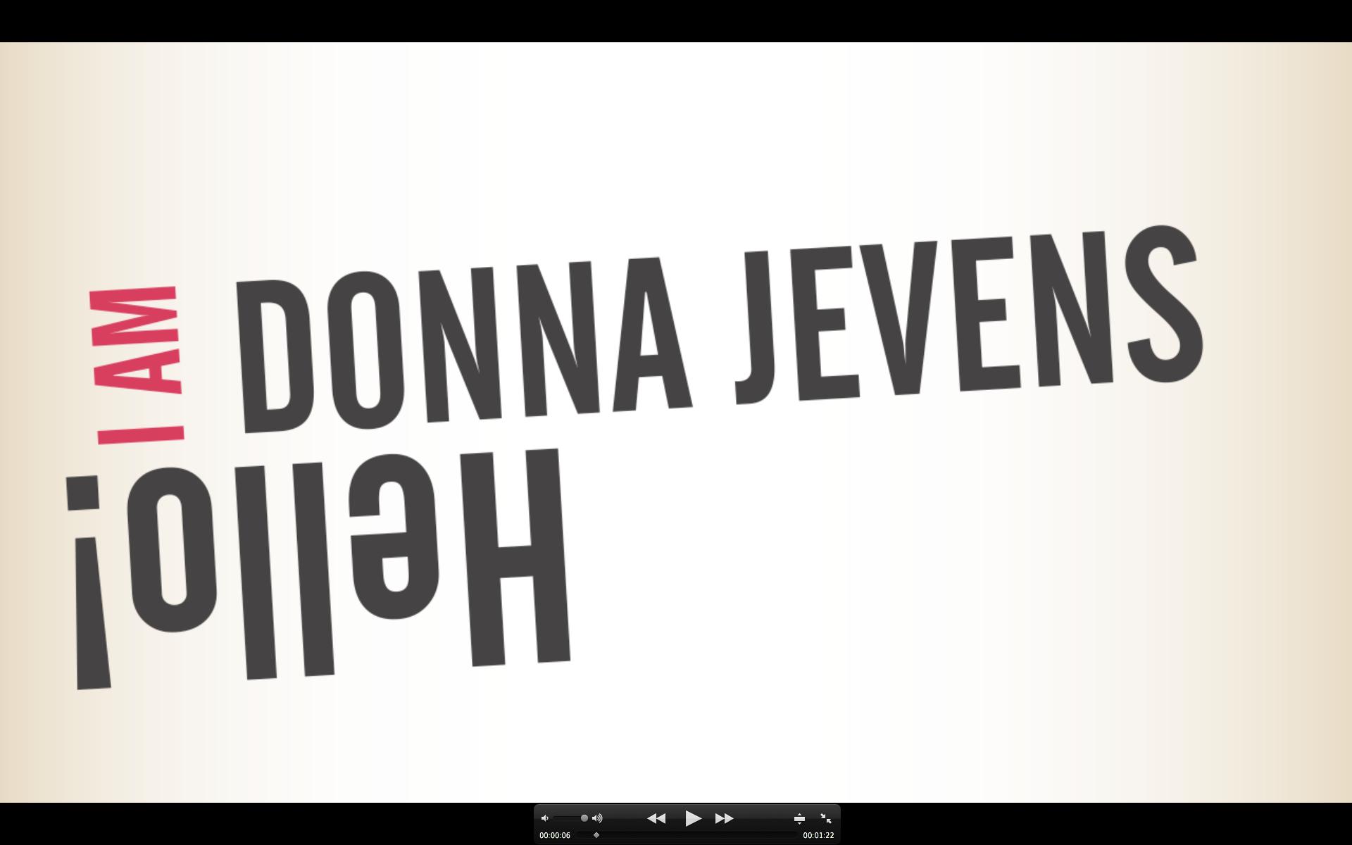 Donna Jevens Graphic Design Portfolio - Donna Jevens Motion Graphics CV