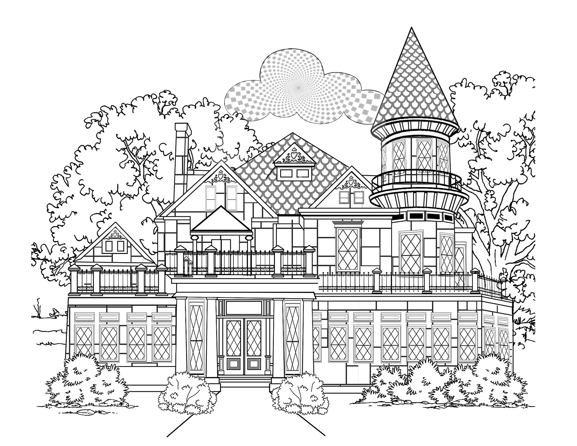 architecture coloring book pages | Janine Smith - Coloring Pages