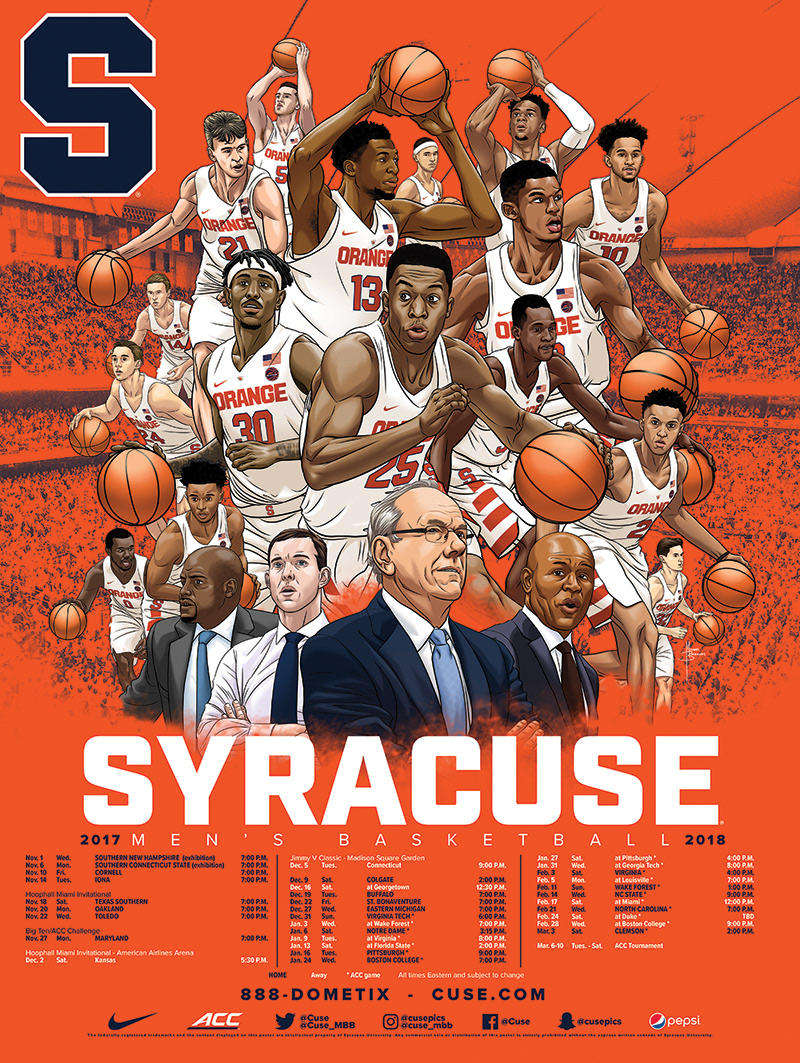 Michael Borkowski Syracuse Men S Basketball 2017 18 Schedule