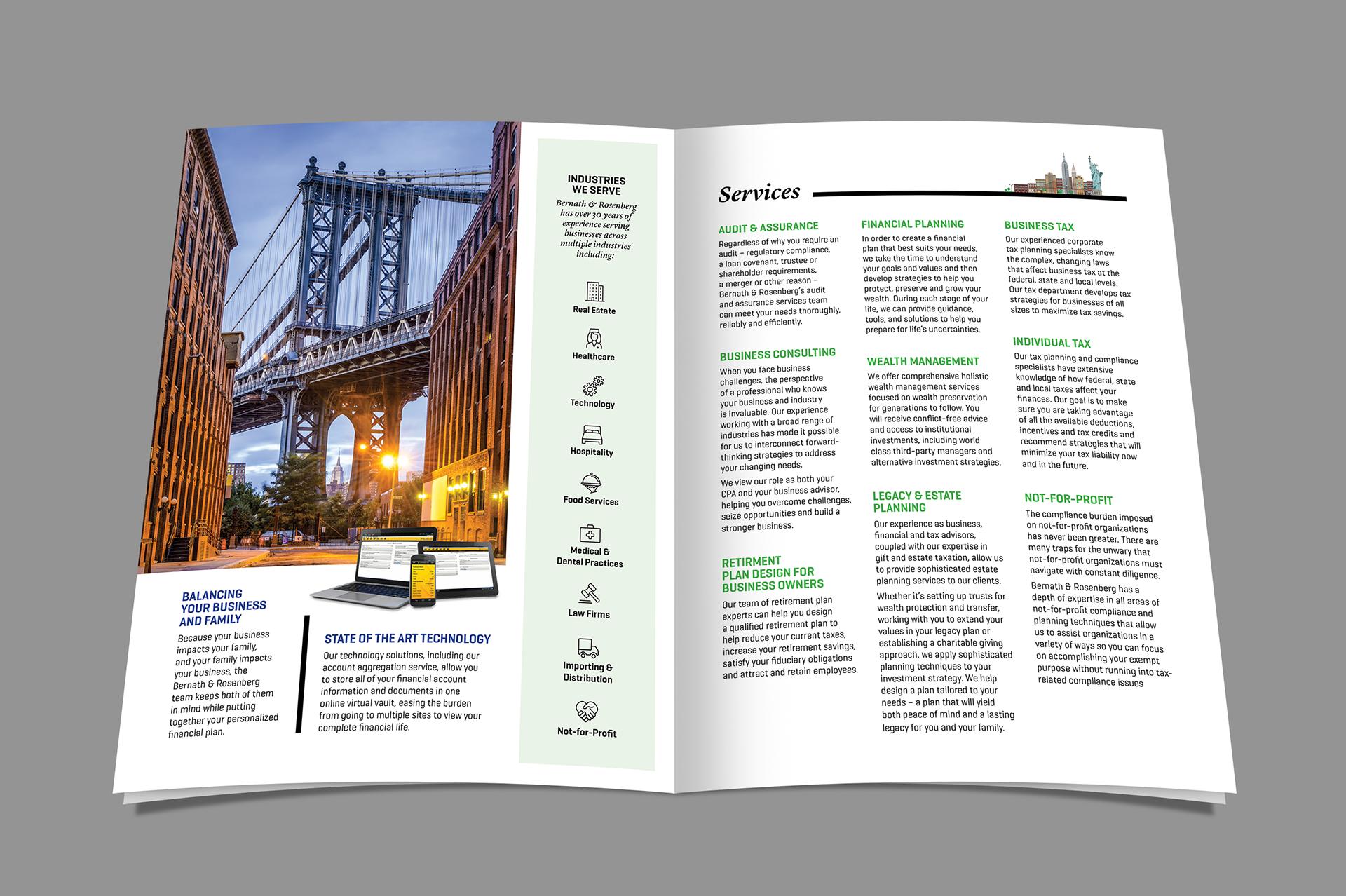 arell design brochure design financial guidance