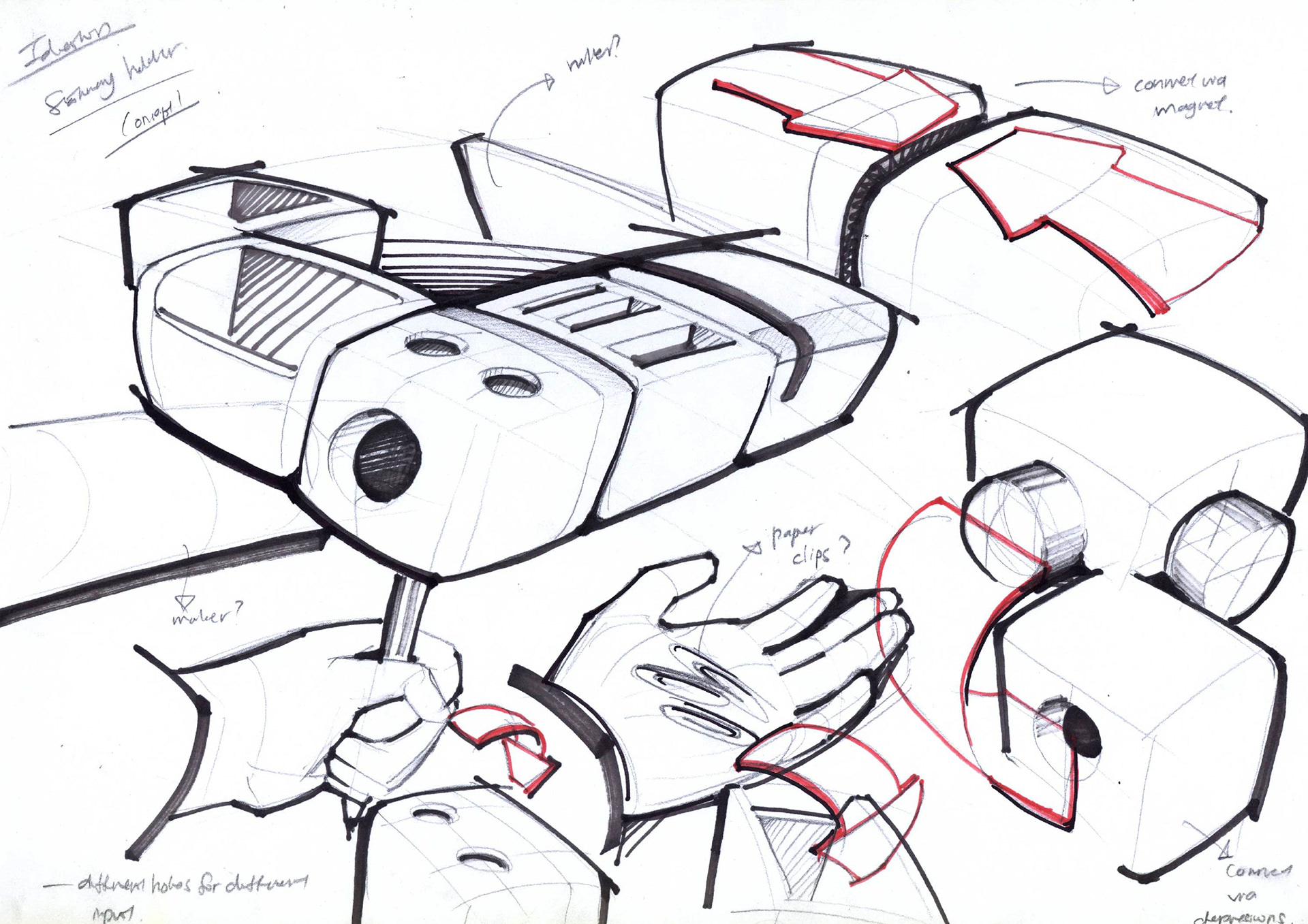 ProductPresentationBoardsexploded Sketch Exploded view