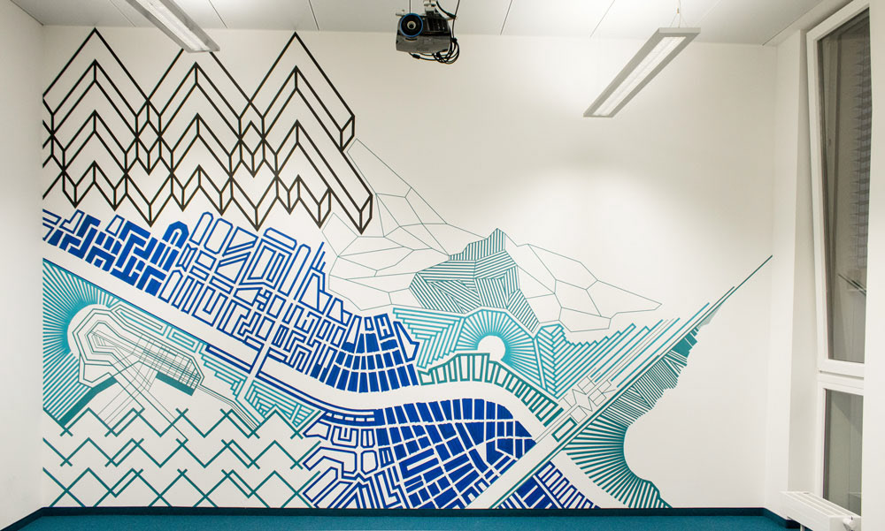Tape Art Created By Tape Over International Tape Art