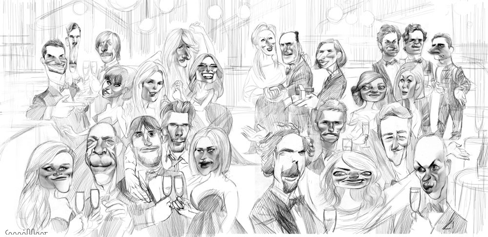 Andre Carrilho Vanity Fair S Oscar Party Mural