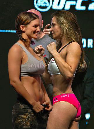 Paul Gioffre - Miesha Tate vs Gina Carano Photoshop by Paulie G