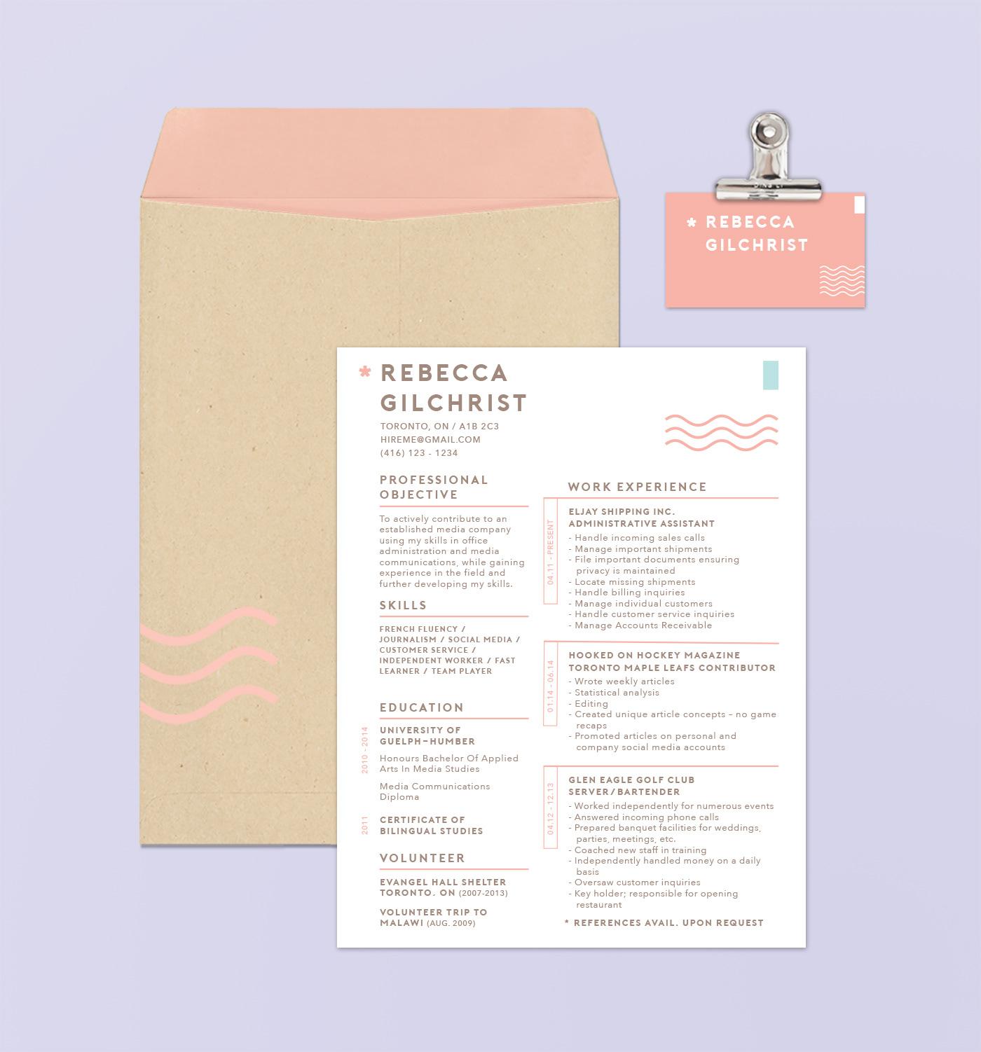 jade lexine - design, etc. - personal branding: resume