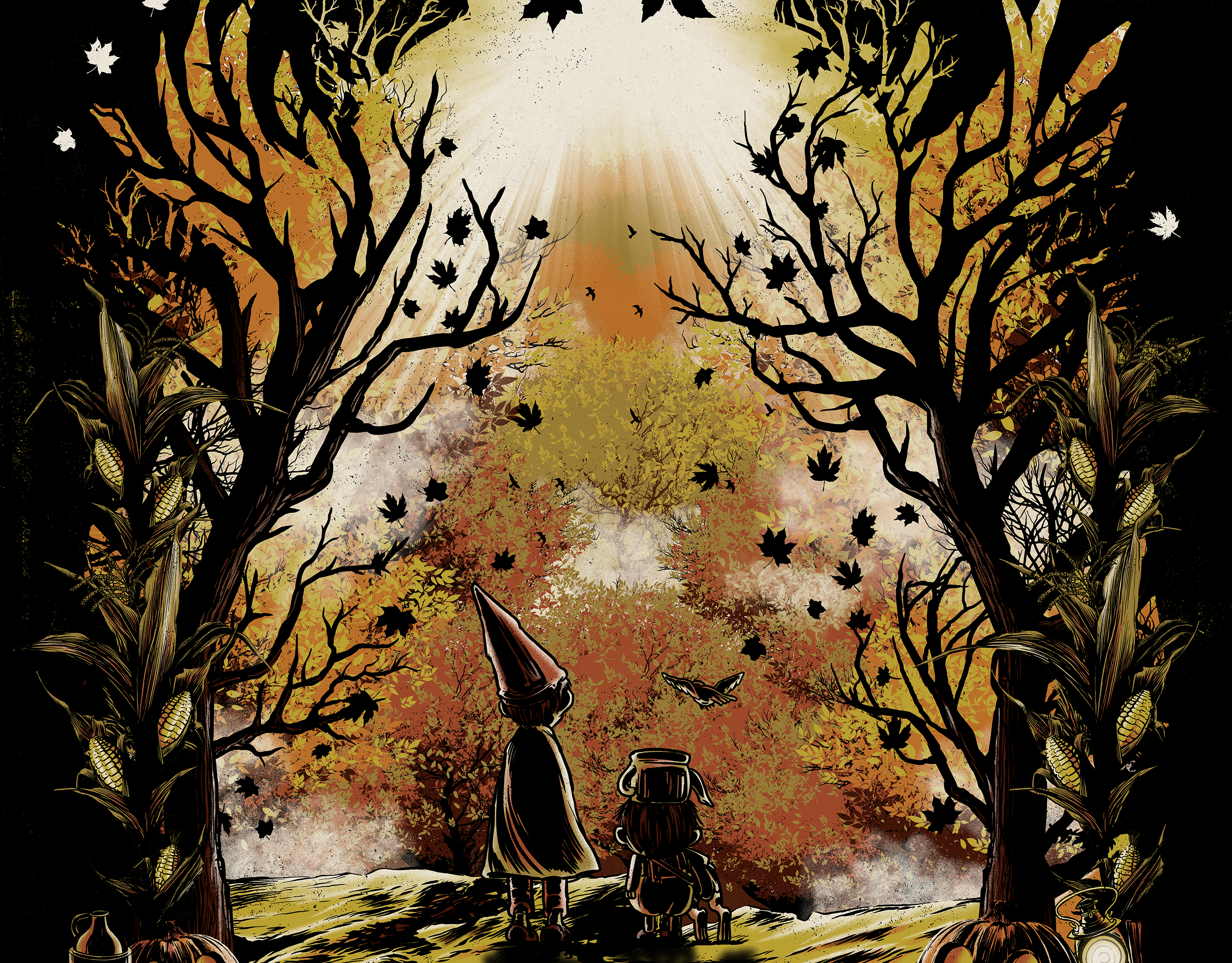 Anthony Petrie Over The Garden Wall Poster