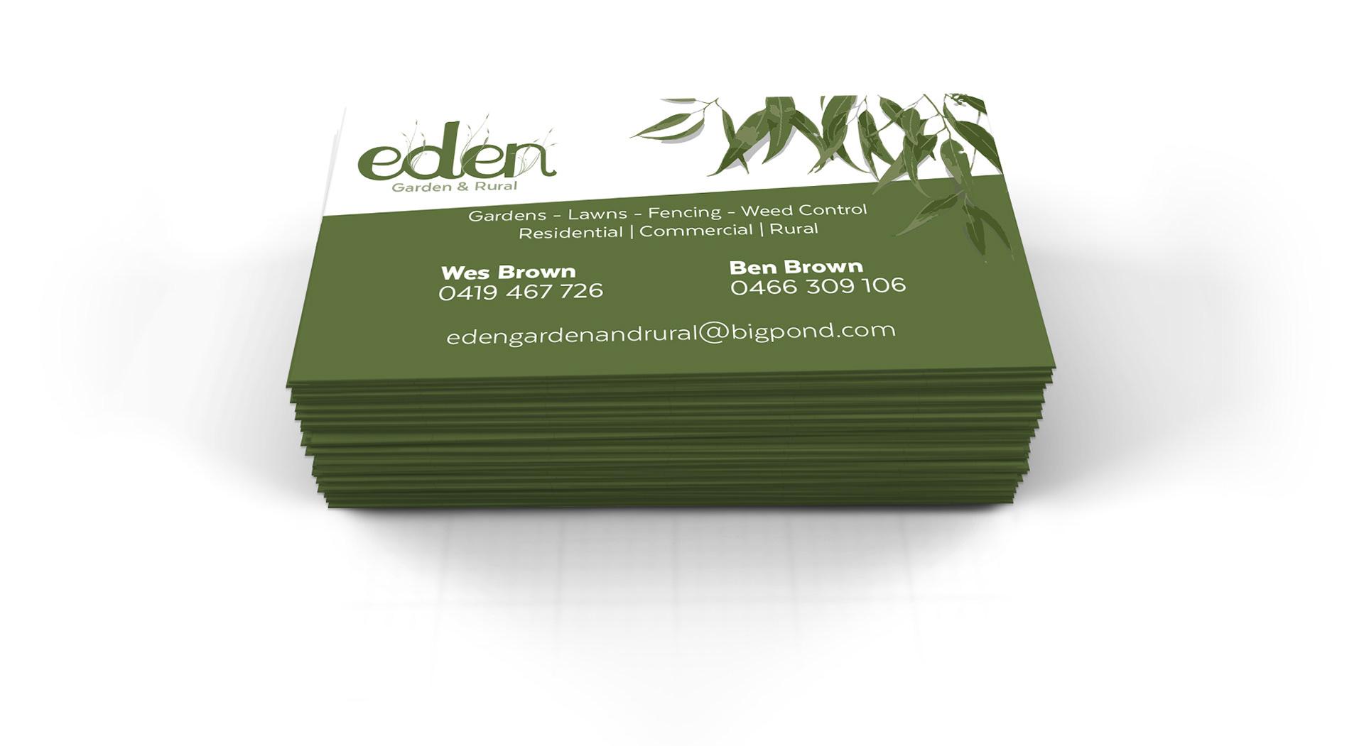 Nathan simpson graphic designer logo business card design for eden garden rural magicingreecefo Image collections
