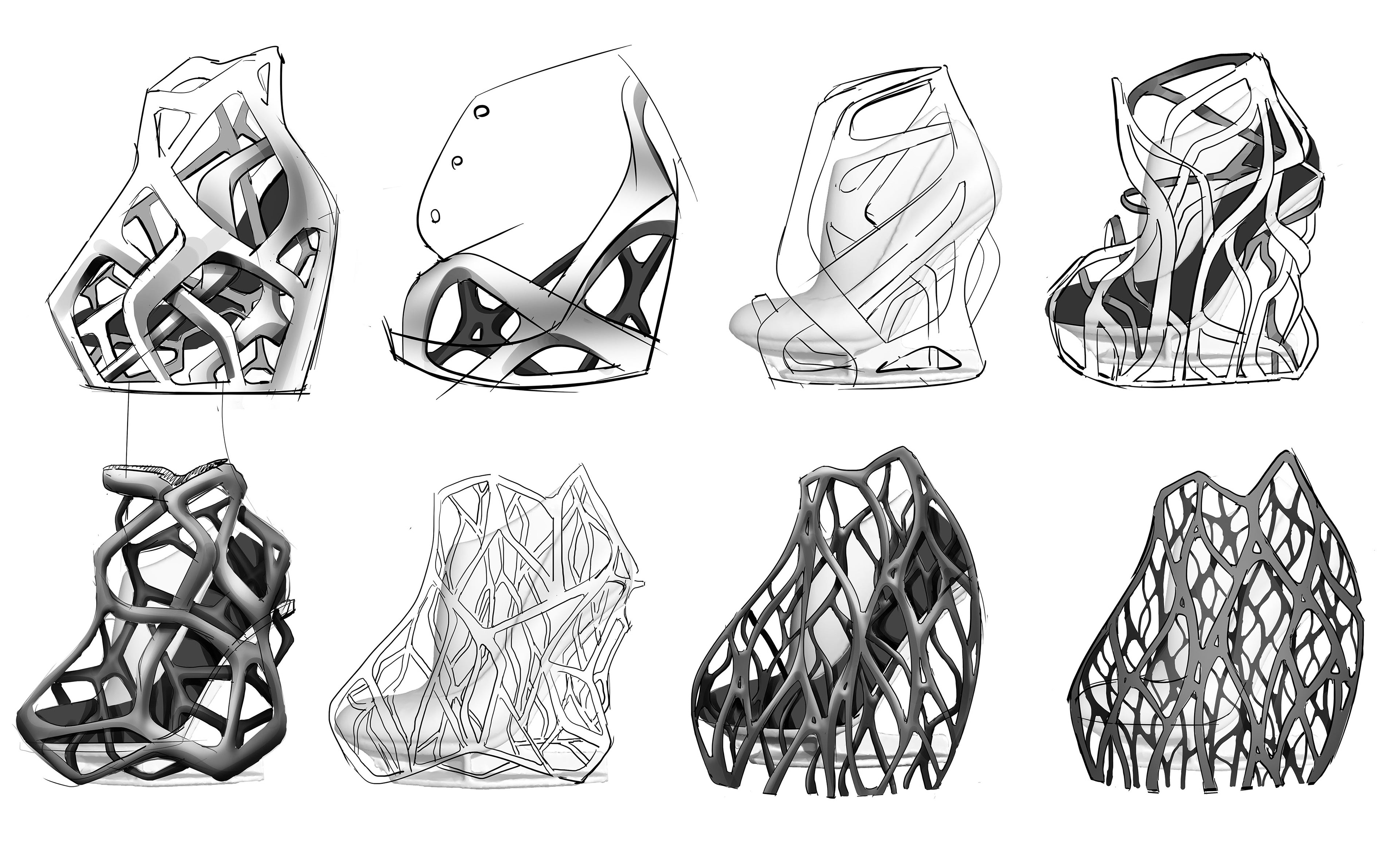 michal kukucka - United Nude / 3D printed concept shoe / FLOAT