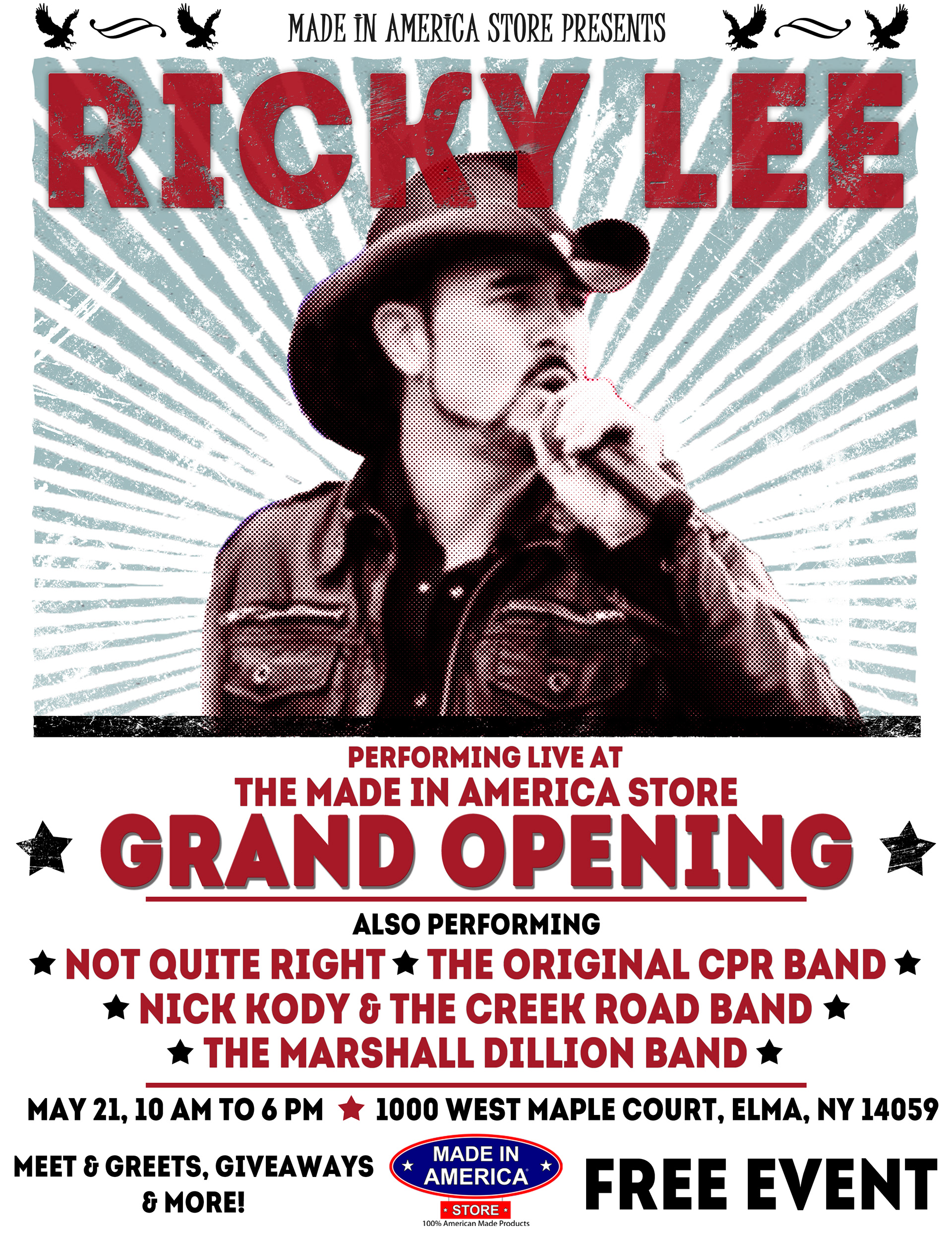 Anthony M Falbo - Grand Opening Music Poster