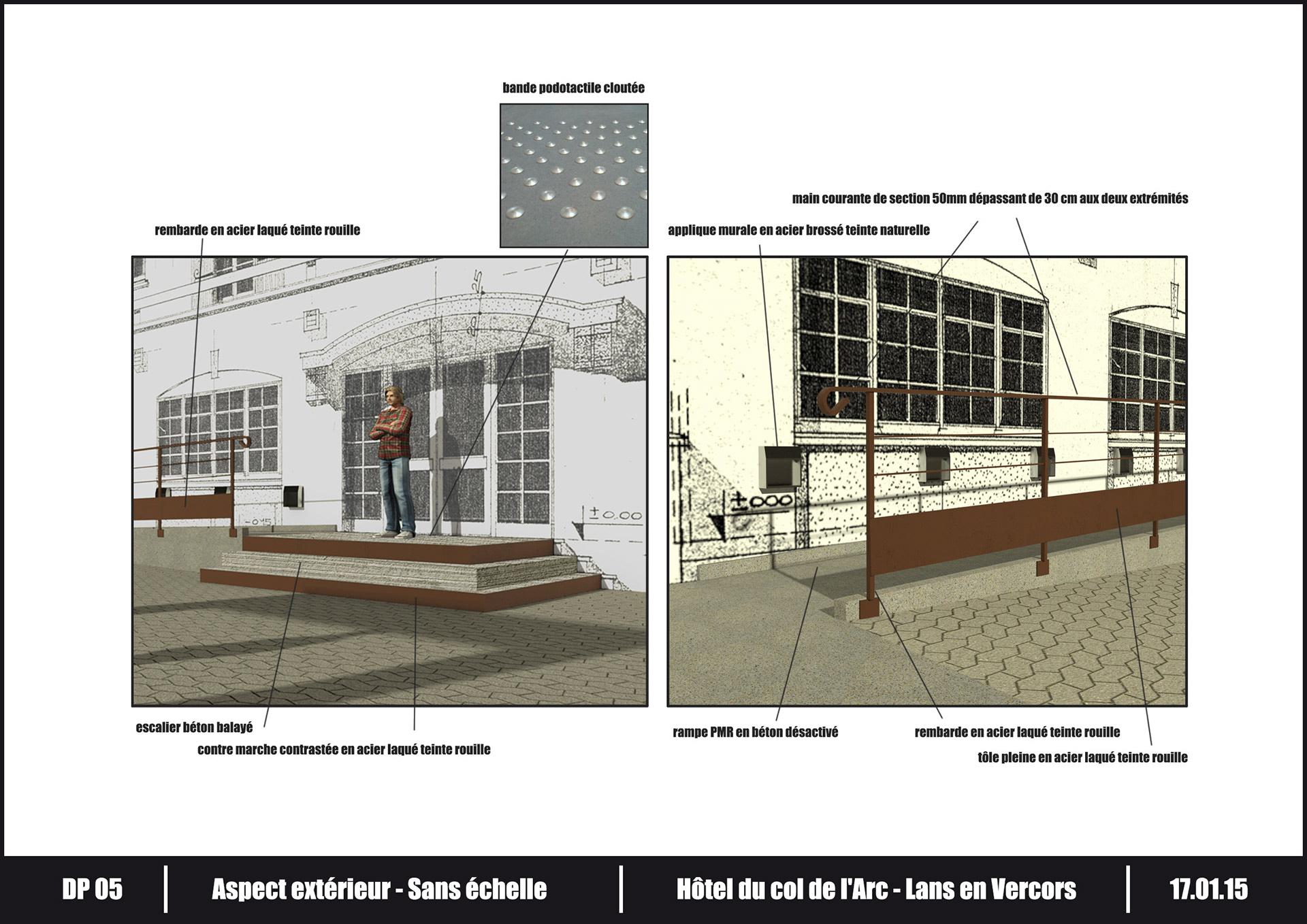komko hotel du col de l 39 arc arche porche d 39 entr e. Black Bedroom Furniture Sets. Home Design Ideas