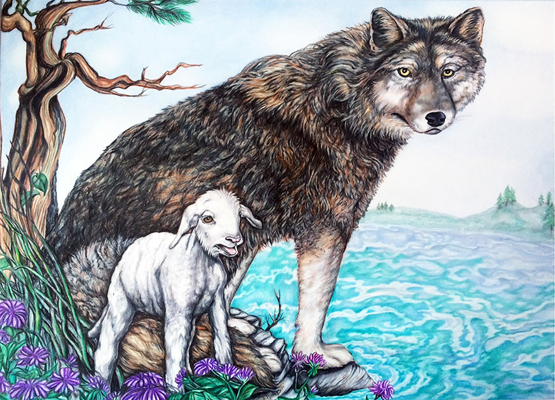 конца картинки как нарисовать волка и ягненка состояние расскажет вашем