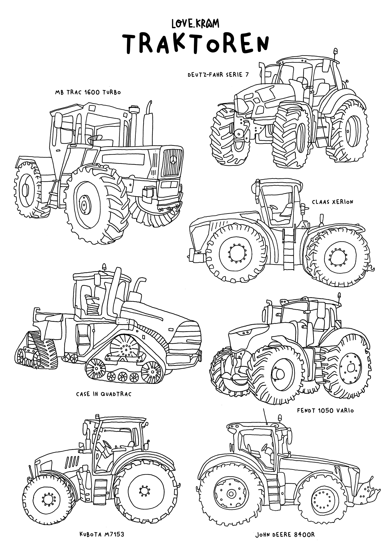 traktor ausmalbilder fendt  wiking traktor fendt 1050