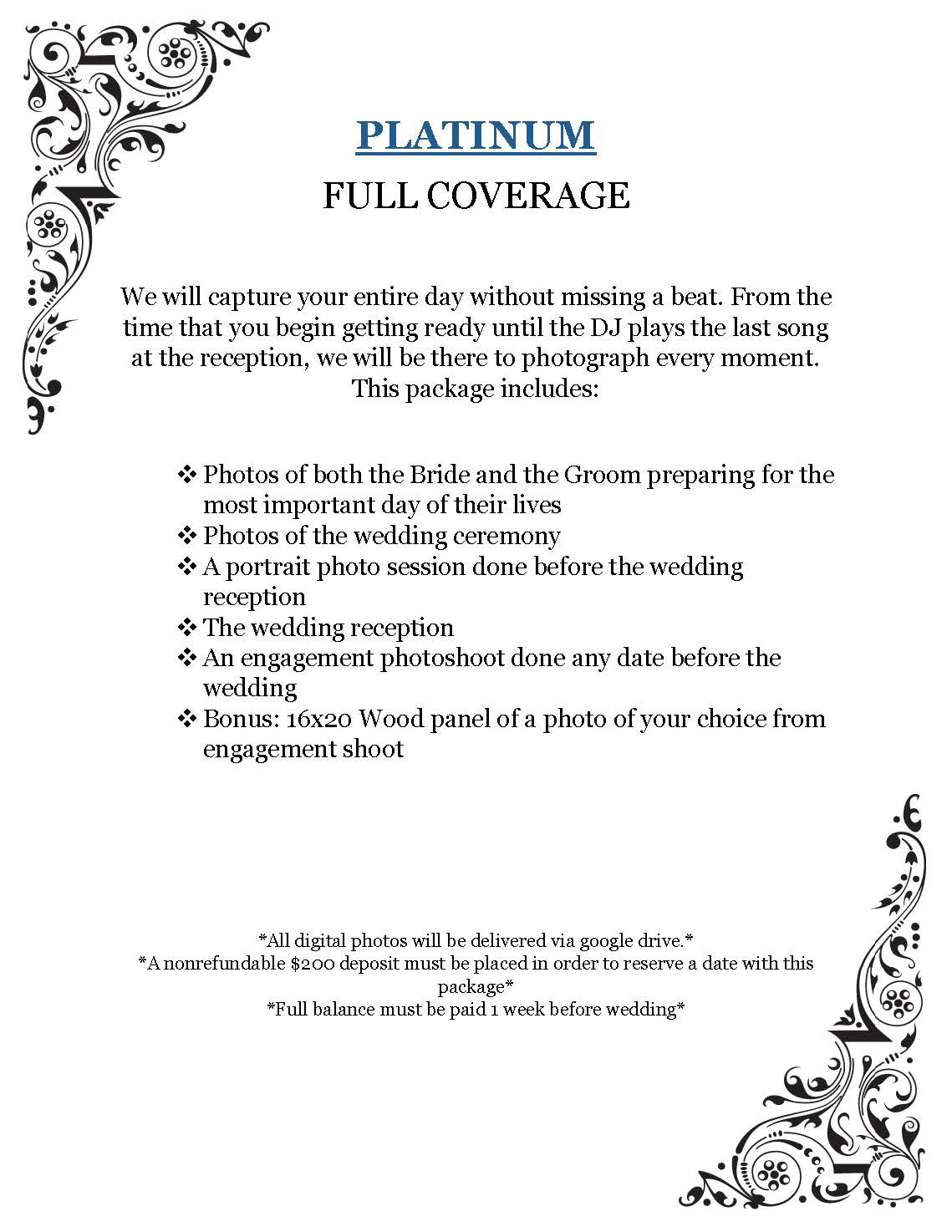 A K Photography - Packages & Specials