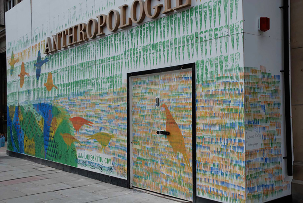 Louise Kirby - Exterior mural for Anthropologie Edinburgh Store