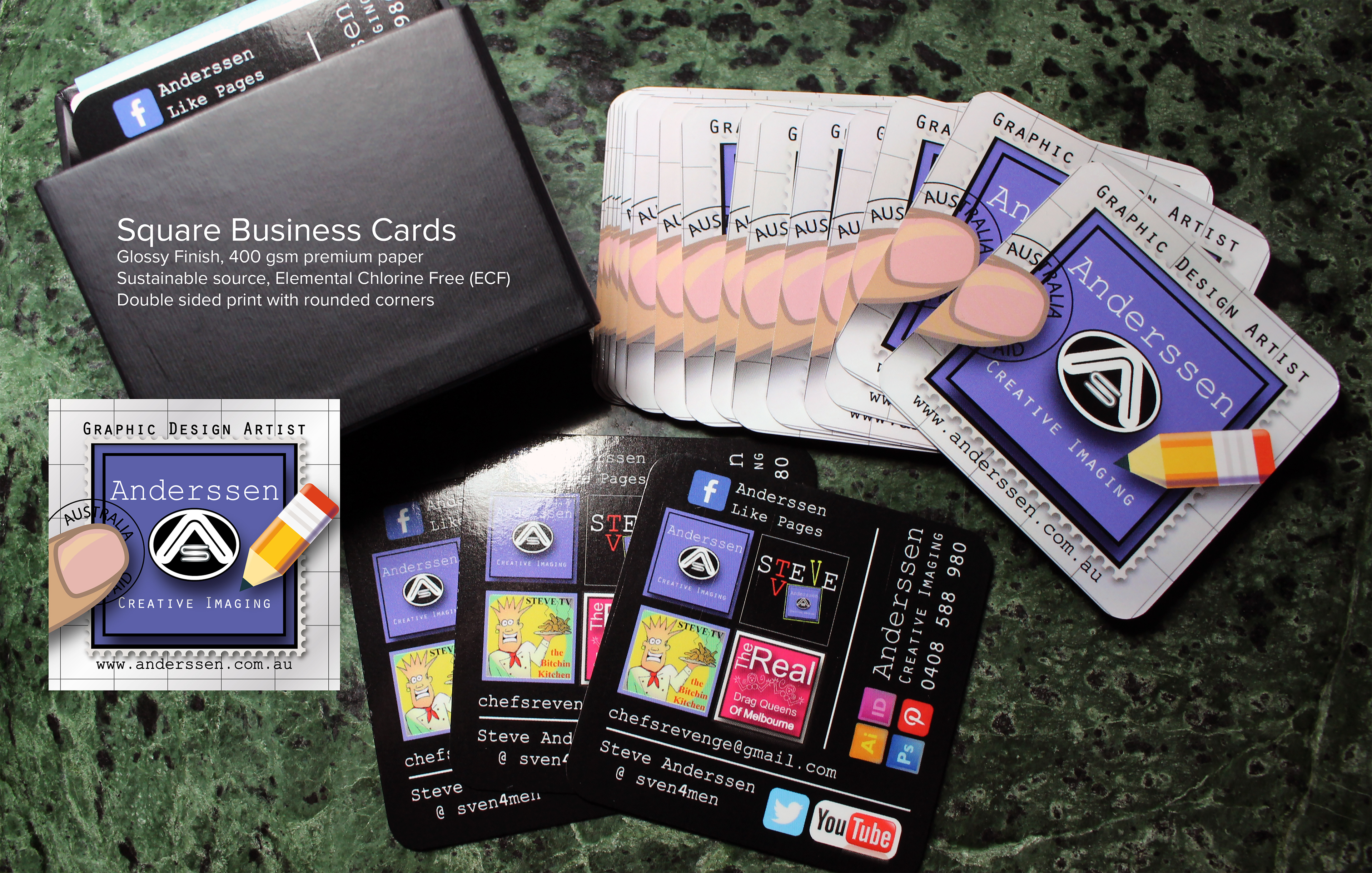 Stephen anderssen business cards these cards were specifically designed to stand out in the crowd when deciding on how to effectively portray your own business with a card a lot depends reheart Gallery