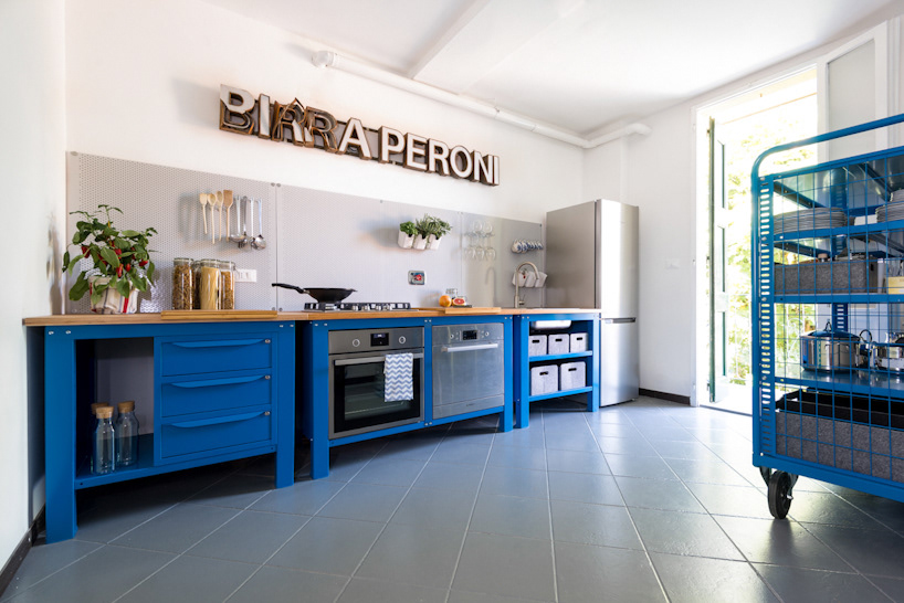 Riccardo randi designer bologna very simple kitchen blue for Very simple home design