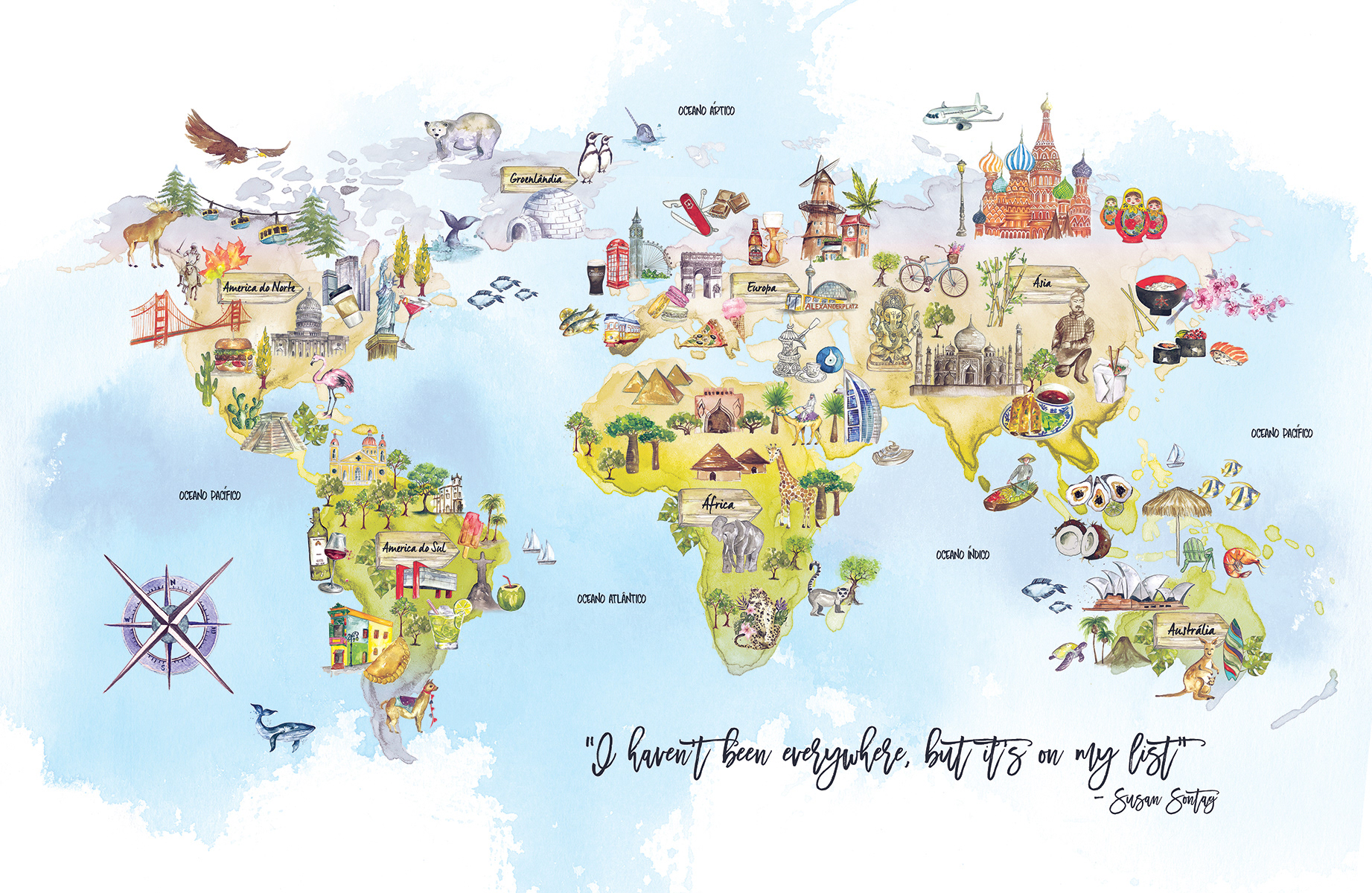Camila Gray - World Map illustrated