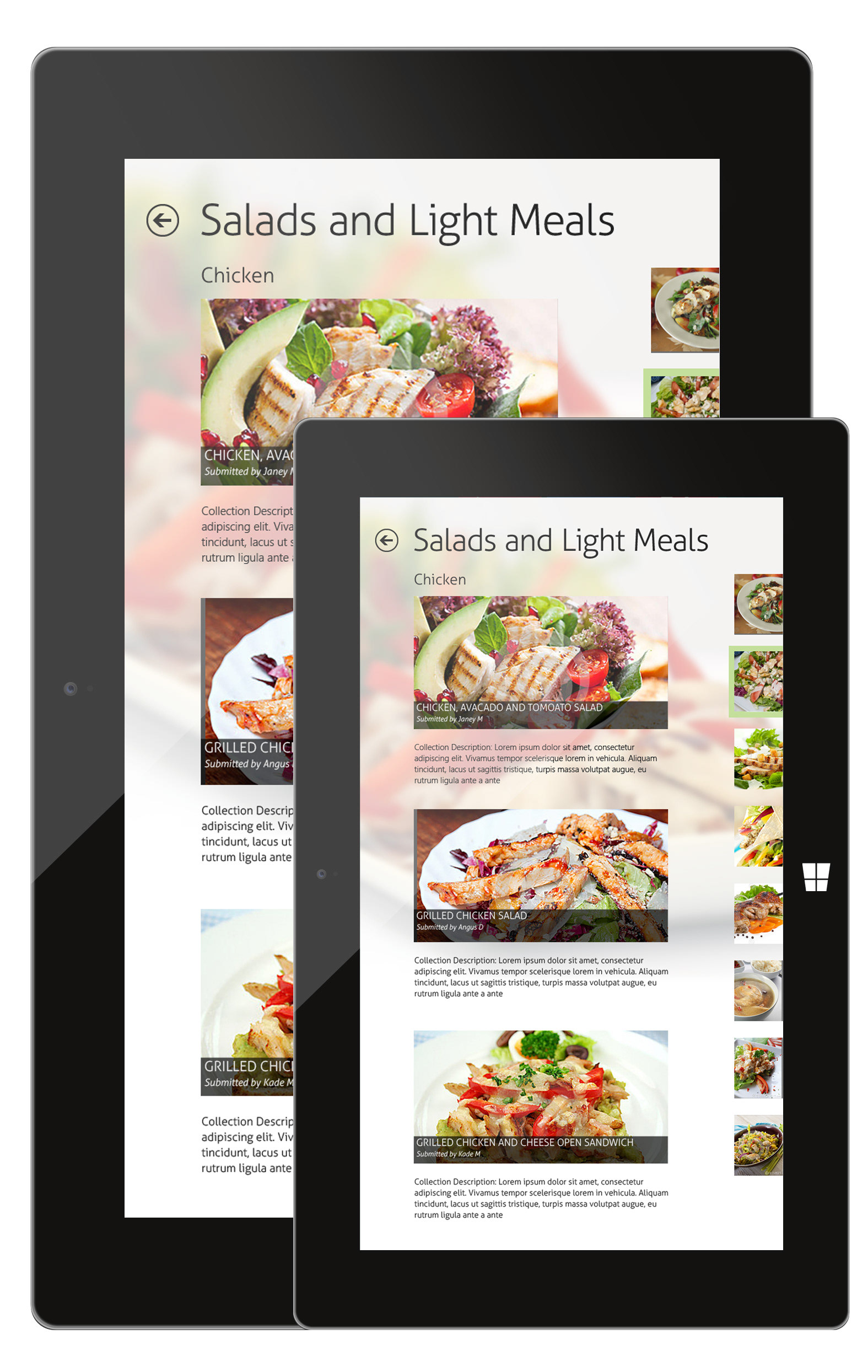 Kit powell ui and ux designer windows 8 recipe app concept you may also like forumfinder Gallery