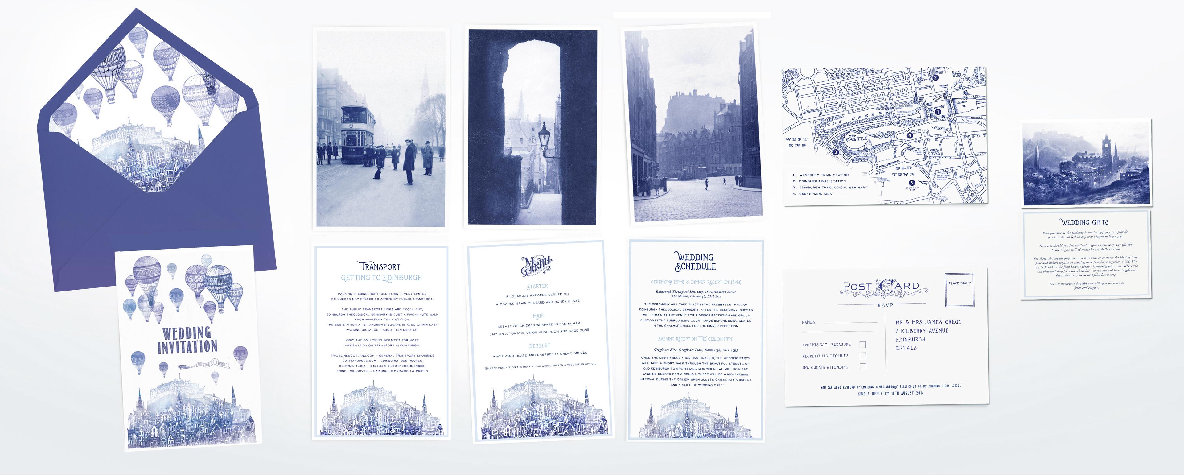 Fivepenny Media - Design & Illustration | Old Edinburgh Wedding
