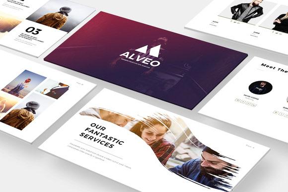 Webdesign Resources & Development - Alveo Minimal PowerPoint ...