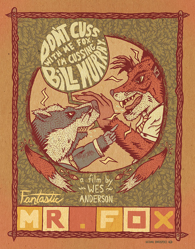 Nathan Doverspike Fantastic Mr Fox Poster
