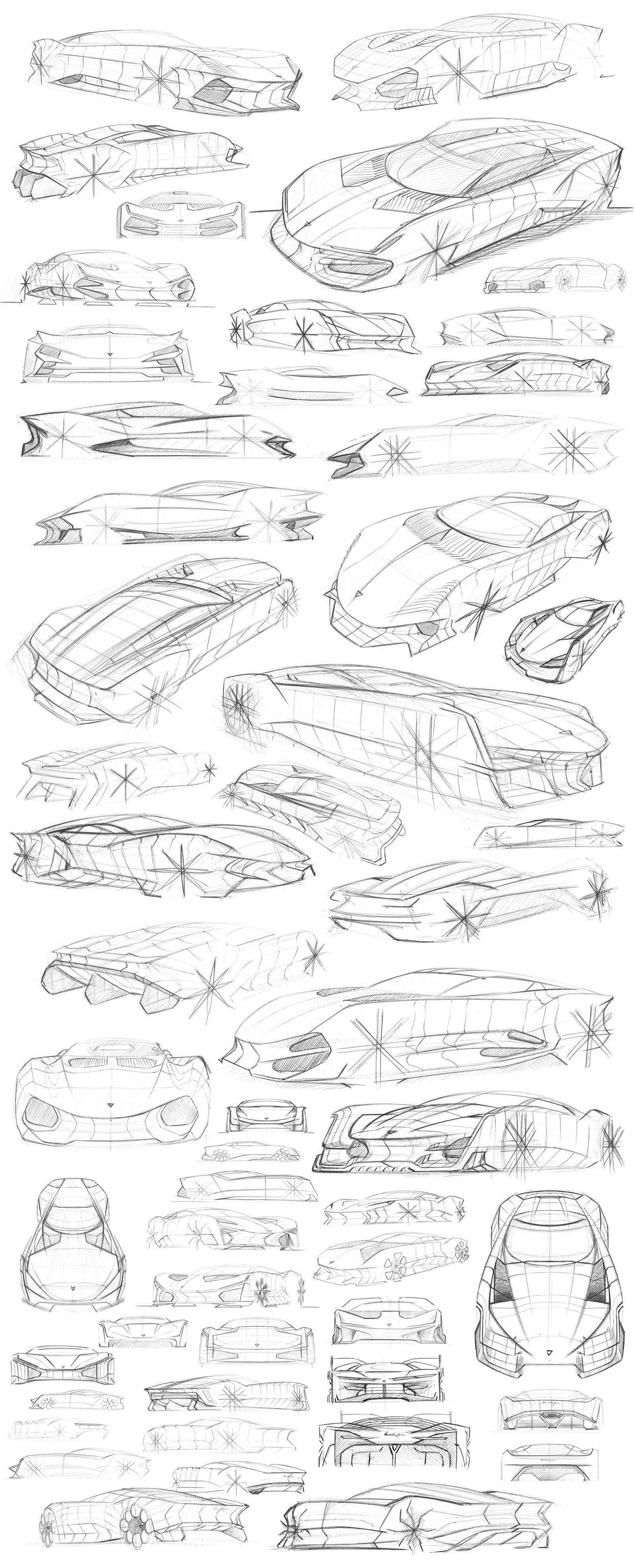 Marco Van Overbeeke Freelance Automotive Designer Sketchbook Lamborghini Gt