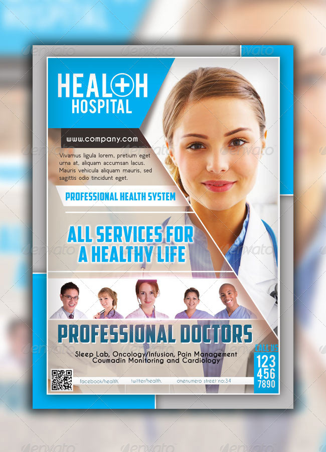 Ersan Mutlu  Health Hospital Flyer Templates