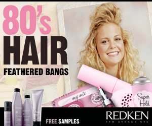 Jehdy com - Redken 80's hair animated banner ads
