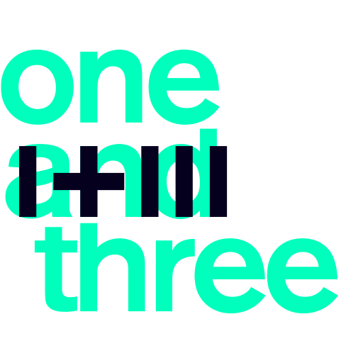 one and three logo