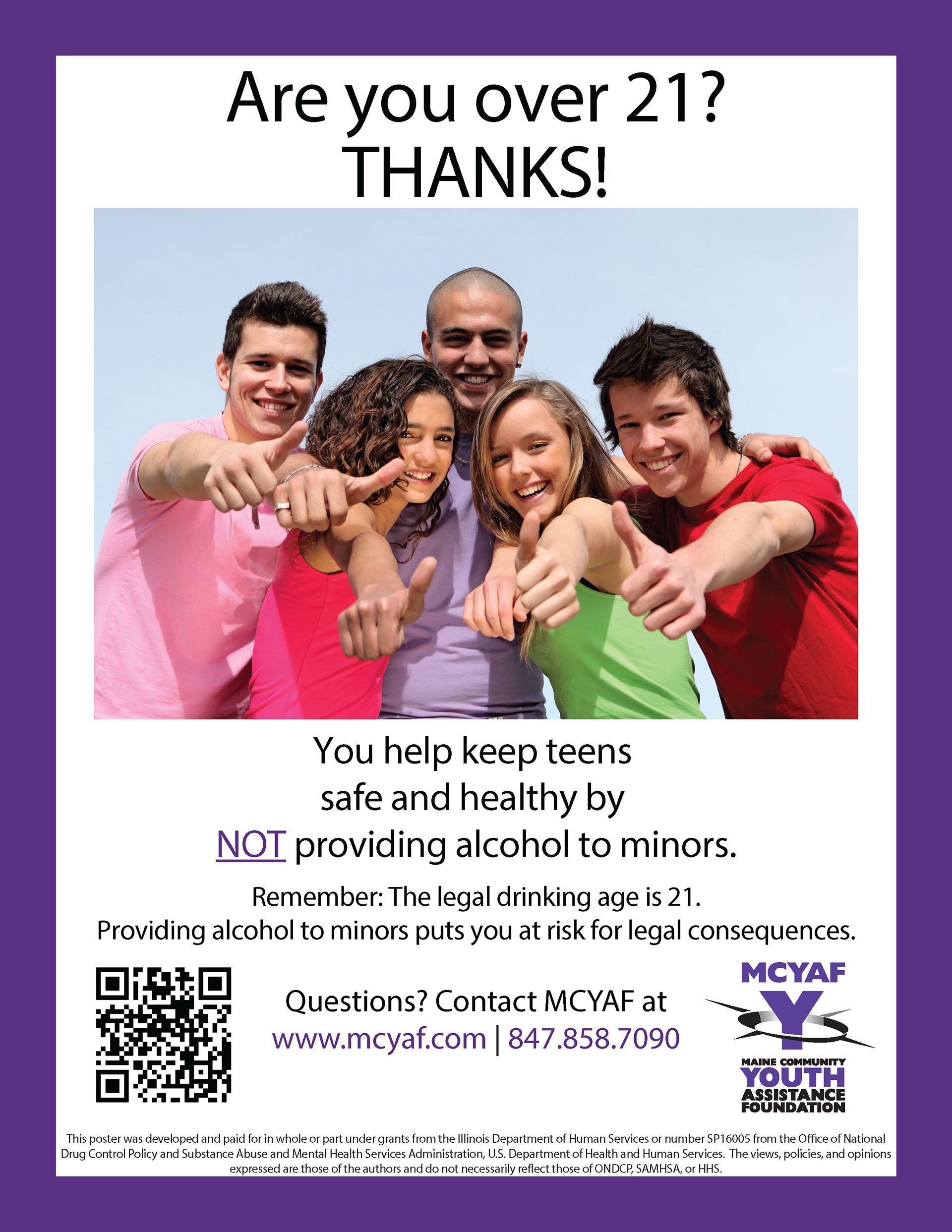 the office posters. These Posters Were Created For The Maine Community Youth Assistance Foundation (MCYAF) To Replace Previous Years Posters. Final Printed Size Was 11\ Office