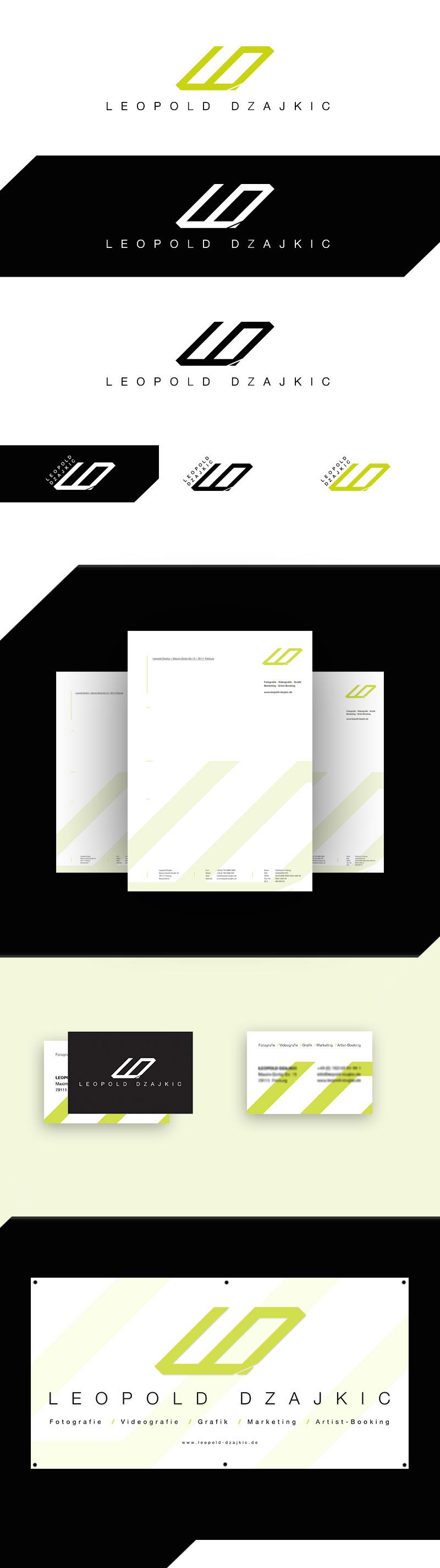 Julien Kuny Leopold Dzajkic Logo Briefpapier Visitenkarten