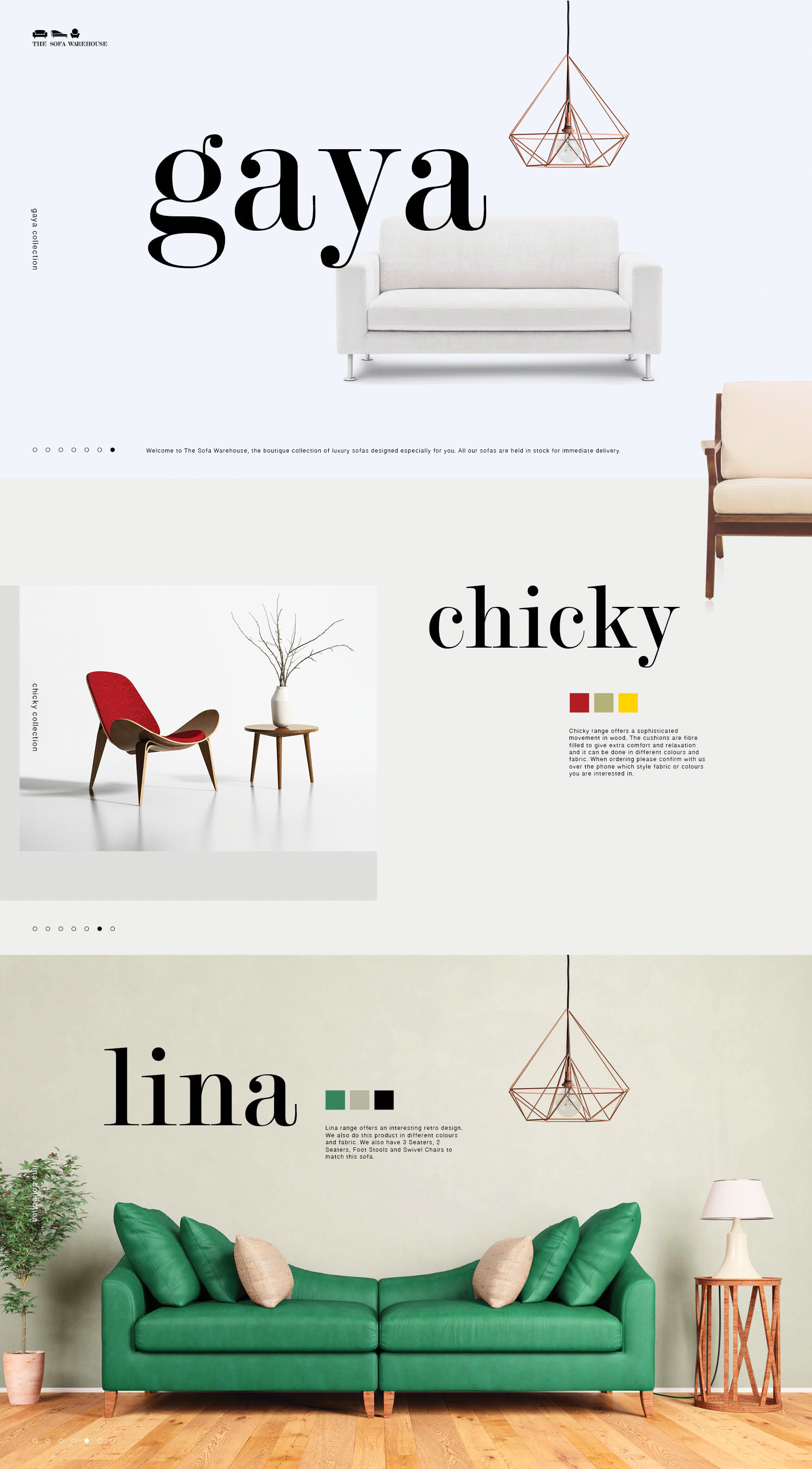 Brand And Website Design For The Sofa Warehouse