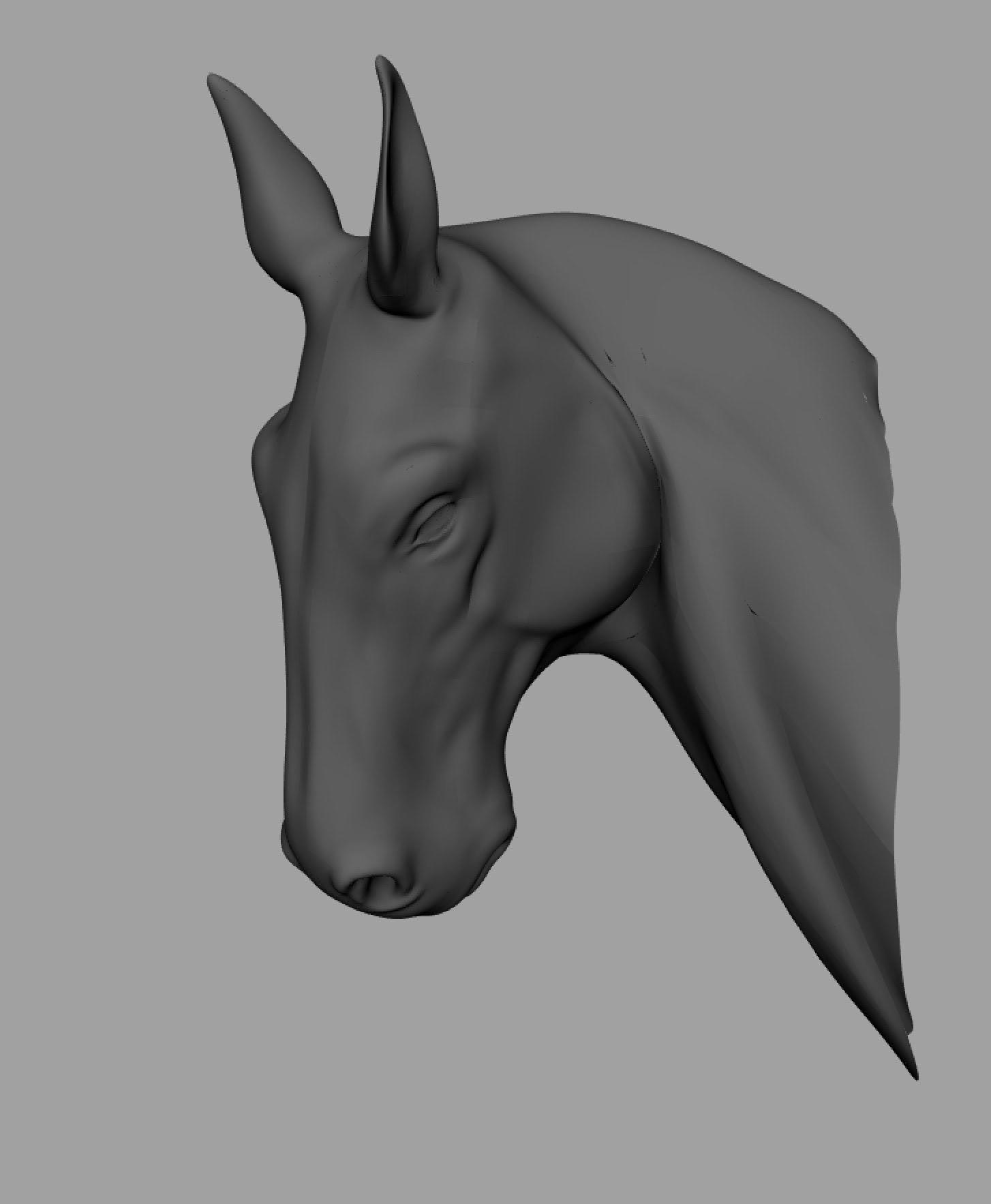 JJUTT [joaquin e. jutt | artist] - Digital Horse Busts