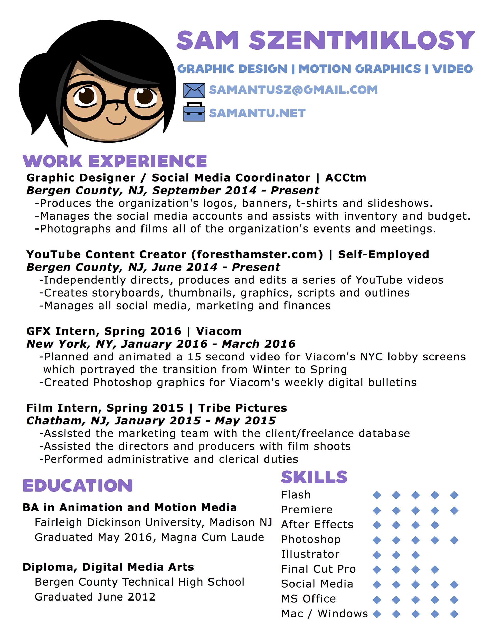 Samantu | Portfolio - Resume